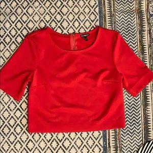 Express red crop top